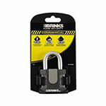 Keeper Brinks Home Security Commercial Steel Padlocks, 3/8in Dia., Black/Gray, 6/PK