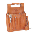IDEAL Premium Leather Tool Pouch w/Shoulder Strap