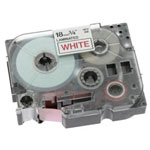 Brother TZ242 Laminated Tape Cartridge, Red/White
