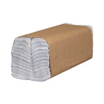 North River North River Folded Towels, C-Fold, White, 10 1/4 x 13, 150/Pack, 2400/Carton
