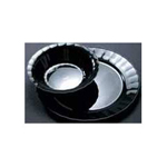 "Polar Plastics Plate Plastic 9"" Black 14 Packs Per Case"