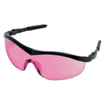 Crews Storm Black Frame Vermilion Lens Safety Glasses