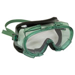 Jackson Safety* V80 MONOGOGGLE 211 Goggles, Clear/Green, Antifog, Foam Lining