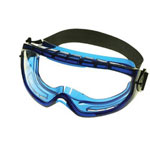 Jackson Safety Monogoggle Blue Frame Anti Fog Clear Lens