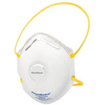 Jackson Safety R20 Particulate Respirators, Gas/Fume Particle Filter, Dual Valve, 10/bx