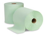 Cascades Antibacterial 800' Roll Hand Towels , Green, Case of 6 Rolls