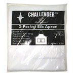 "Challenger 28"" x 30"" White 3 Pocket Adjustable Apron"