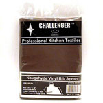 "Challenger 26"" x 28"" Nauga Brown Adjustable Apron"