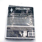 Challenger Size 30 Black & White Checkered Chef Pants
