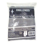 Challenger Size 32 Black & White Checkered Chef Pants