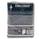 Challenger Size 34 Black & White Checkered Chef Pants