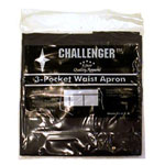 Challenger 3 Pocket Black Waist Apron