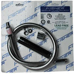 Fisher Faucet Hose with Handle, 44""