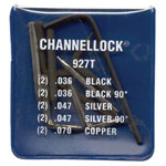 Channellock Univeral Replacement Tips(kit Of 5 Diff Tips)