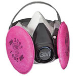 3M Half Facepiece Respirator 6000 Series, Reusable, Small
