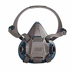 3M Rugged Comfort Half-Facepiece Reusable Respirators, Small