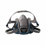 3M Rugged Comfort Quic-Latch Half-Facepiece Reusable Respirators, Small