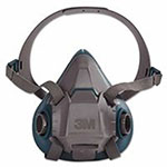 3M Rugged Comfort Half-Facepiece Reusable Respirators, Large