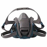 3M Rugged Comfort Quic-Latch Half-Facepiece Reusable Respirators, Large