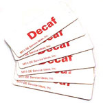 Service Ideas Decaf Magnetic Tags