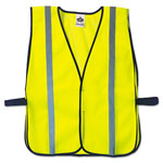 Ergodyne GloWear 8020HL Safety Vest, Polyester Mesh, Hook Closure, Lime, One Size Fit All