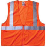 Ergodyne Economy Vest Class Ii Mesh Zipper Orange S/m