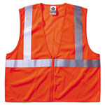 Ergodyne Economy Vest Class Ii Mesh Zipper Orange L/xl