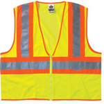 Ergodyne Lime Two-tone Vest Meshzipper