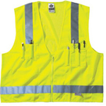 Ergodyne Lime Surveyor Vest Solid/mesh Zip