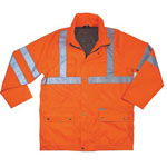 Ergodyne GloWear 8365 Class 3 Rain Jacket, 3X-Large, Orange