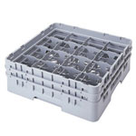 "Cambro Camrack 16 Compartment Glass Rack, 9 3/4"" x 19 3/4"" x 5 5/8"""