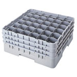 Cambro Gray Camrack 36-Compartment 1-Extension Dish Rack