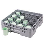 Cambro Gray Camrack 20-Compartment 1-Extension Dish Rack