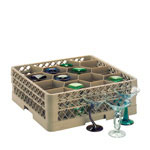 Traex 12 Compartment Glass Rack with 4 Compartment Extenders