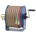 "Coxreels Hand Crank 1/4""inx100ft Twin-line-w/Hose"