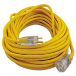 Coleman Cable Polar/Solar Outdoor Extension Cord, 50ft, Yellow