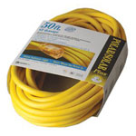 Coleman Cable Polar/Solar Indoor-Outdoor Extension Cord With Lighted End, 50ft, Yellow