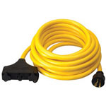 Coleman Cable 01911 10/3 25' Sjtw Generatorcord 20 Amp