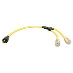 Coleman Cable L5-30P Extension Cord, Lighted, 10/3 STOW, 3ft, 5-2