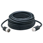 Coleman Cable 01939 100' 6/3 & 8/1 Seow Black Cord 50a w/Hubbell End