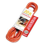 Coleman Cable 02304 16/3 Sjtw Three Conductor Round Orange Cord