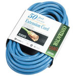 Coleman Cable 02568 50' Fluorescent Blue Lowtemp. 12/3 Sjtw-a 300v