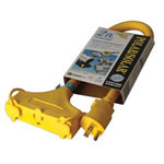 Coleman Cable 03489 100' 12/3 Yellow Polar/solar Plus w/Power Ligh