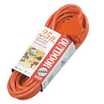 Coleman Cable 04217 25' 14/3 Sjtw-a Orange 3-way Power Block 300v