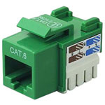 Belkin CAT6 Channel Cert Keystone Jack, Green, 10 Pack