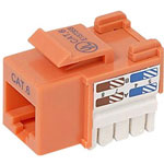 Belkin CAT6 Channel Cert Keystone Jack, Orange, 10 Pack