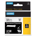 Dymo Permanent Polyester Tape Roll, Black on White