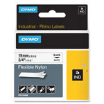 "Dymo 3/4"" Flexible Nylon Tape, Black on White"