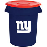 Rubbermaid Brute 32 Gal New York Giants Trash Container with Lid