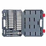 Crescent 52 Piece 3/8 in Drive Standard & Deep Socket Sets, 6 Point, 12 Point